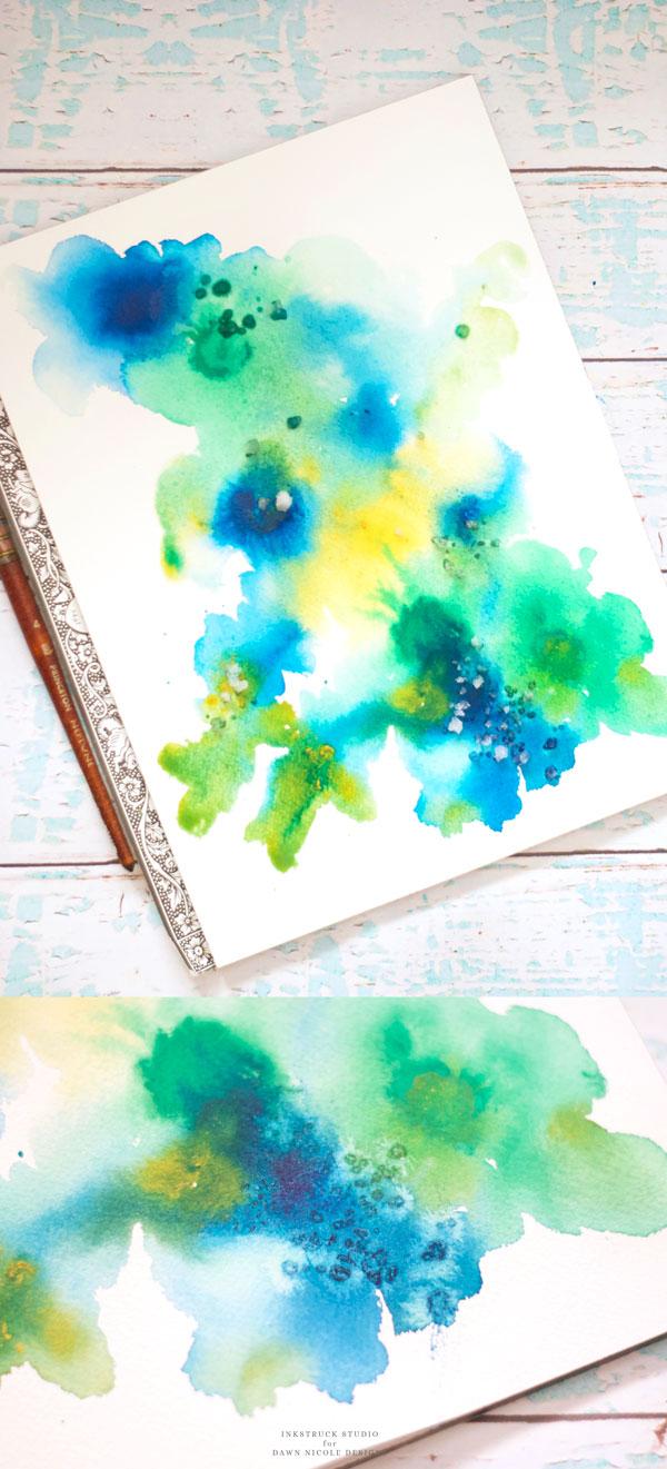 600x1321 Easy Abstract Watercolor Florals Tutorial Dawn Nicole