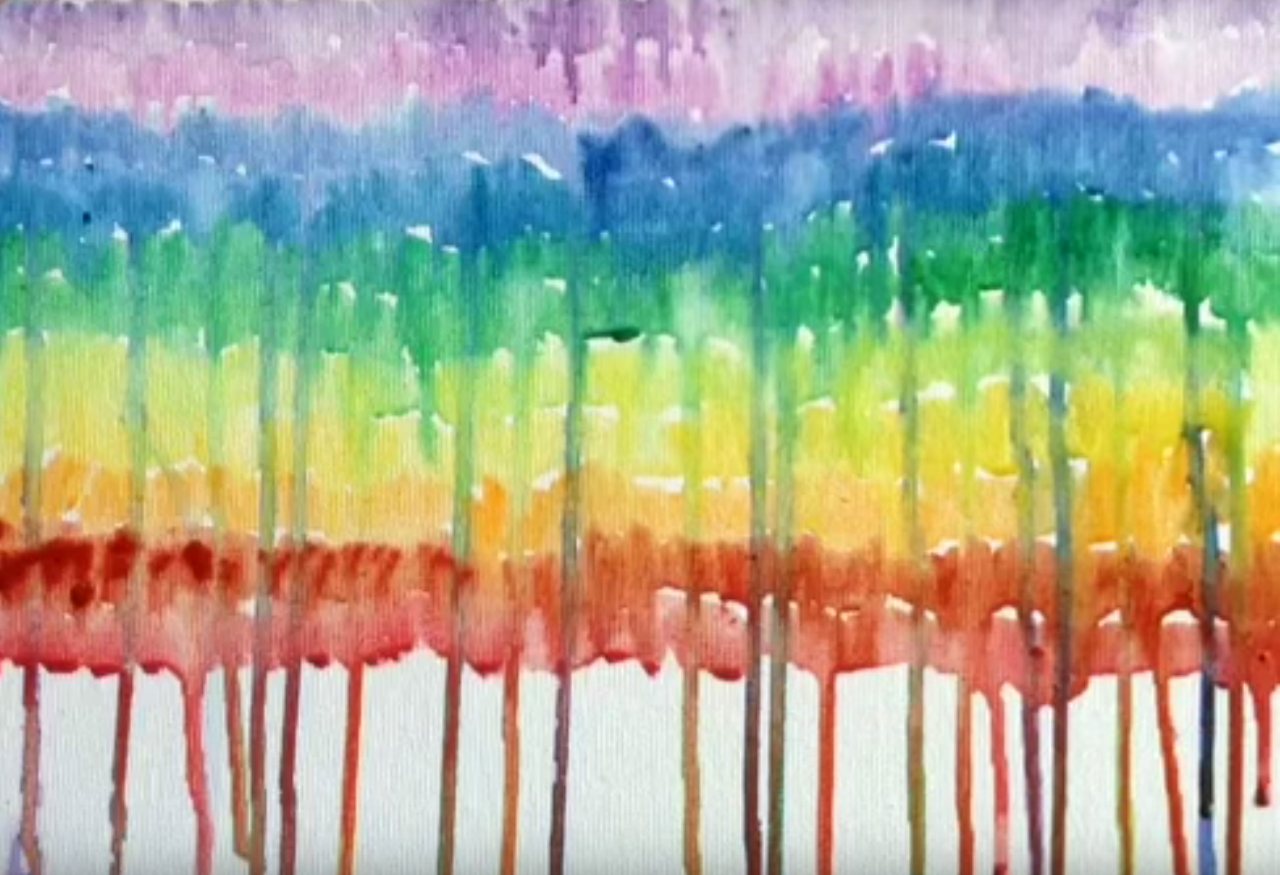 1280x875 Easy Step By Step Dripping Watercolor Technique With Pics