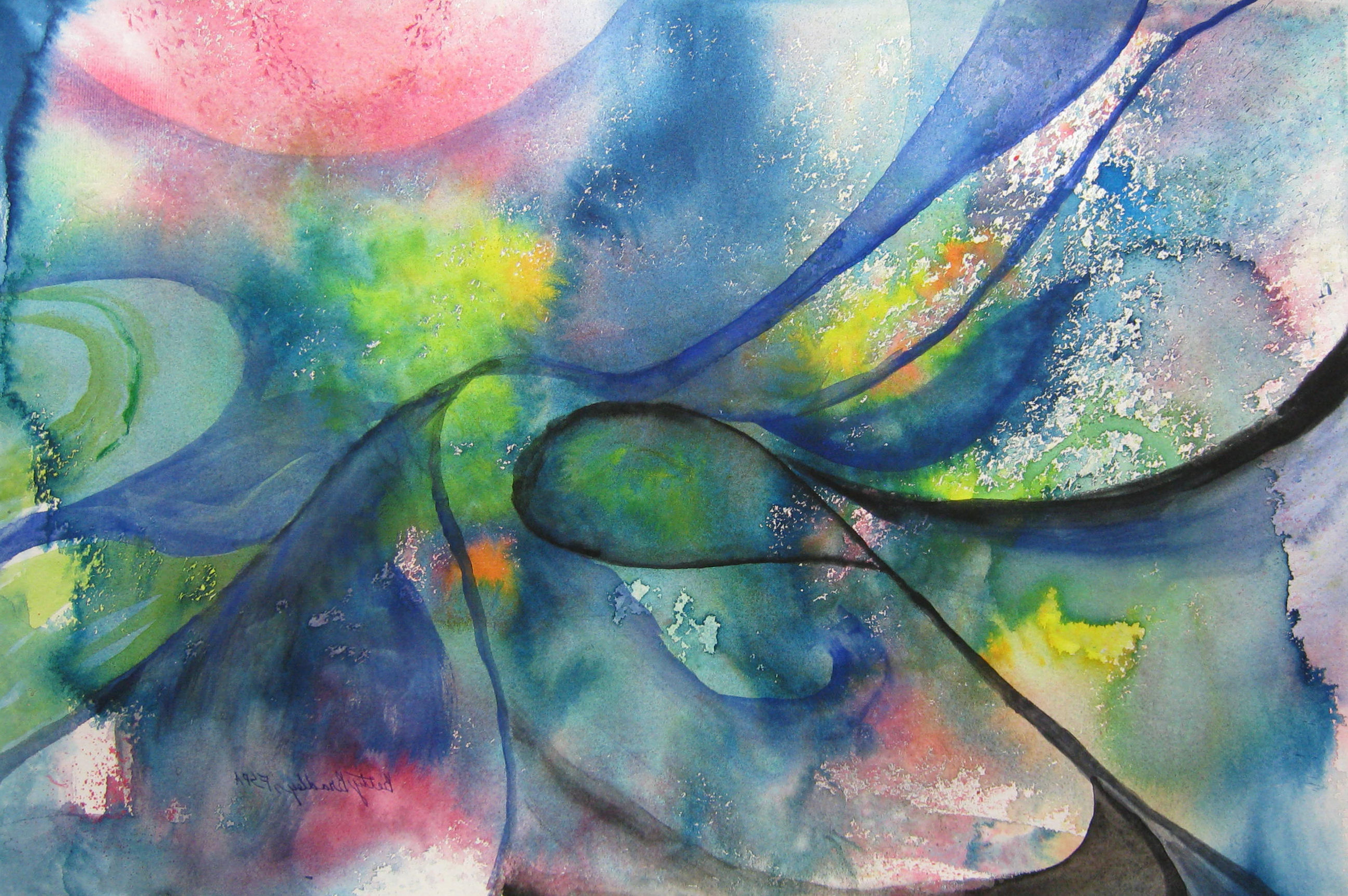 Abstract Watercolor Painting For Beginners At Getdrawings