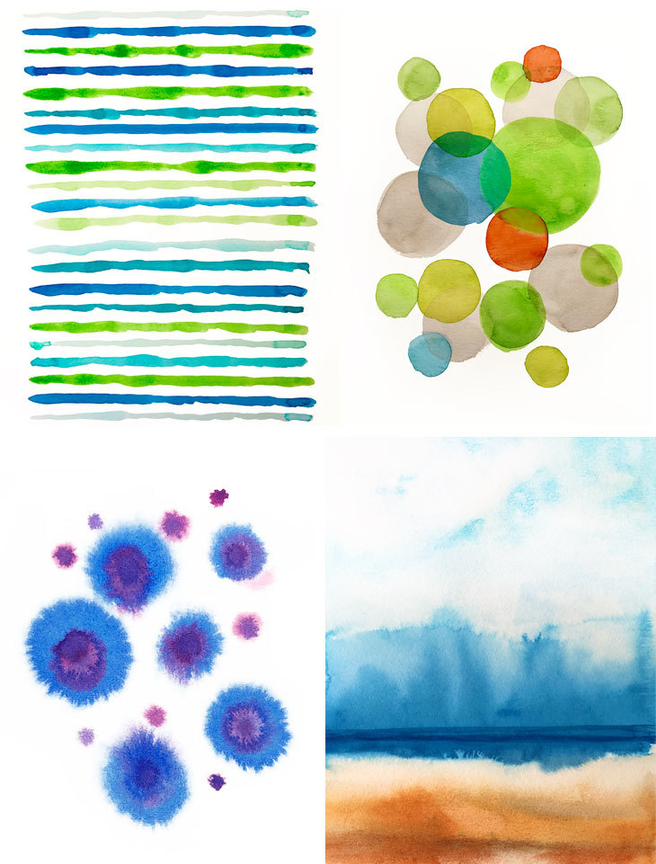 730x961 Simple Abstract Watercolor Painting For Beginners