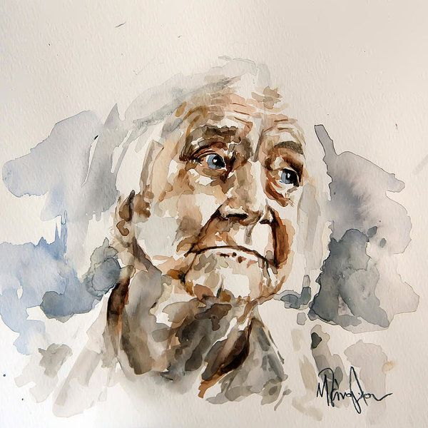 Abstract Watercolor Portraits