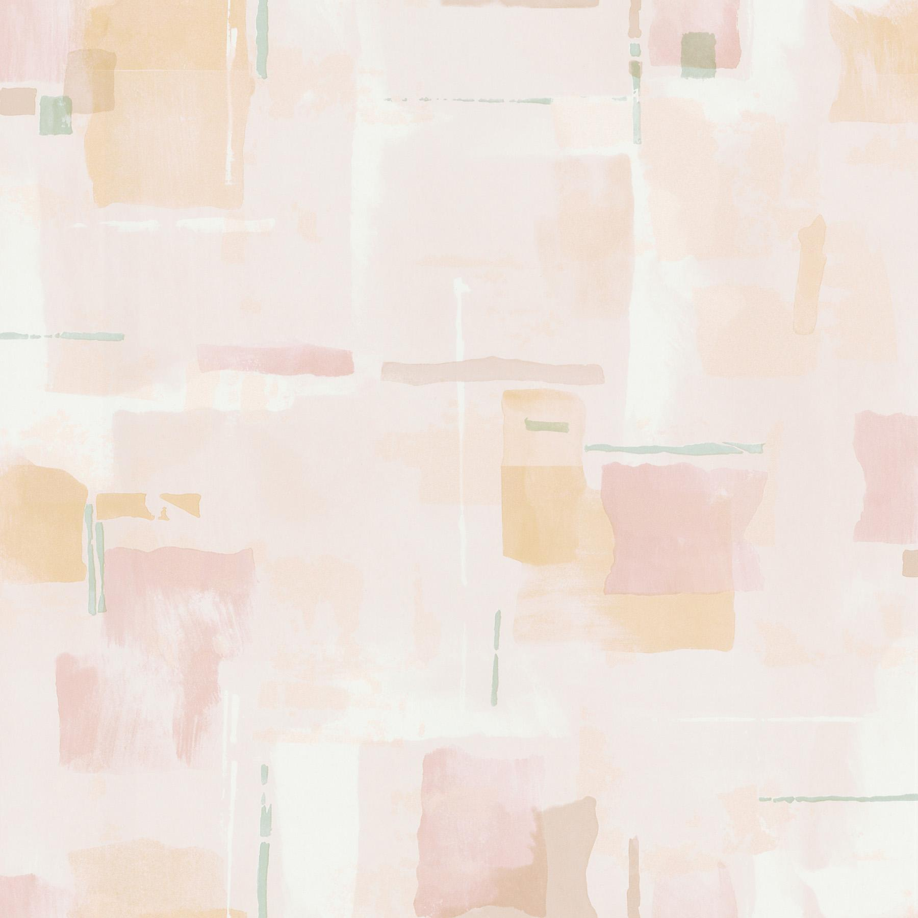 1800x1800 Brewster Wallpaper Peach Abstract Watercolor Geometric Wallpaper