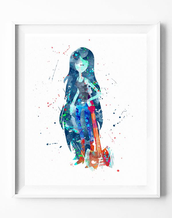 600x761 Adventure Time Vampire Queen Marceline Art Print Poster Vampire