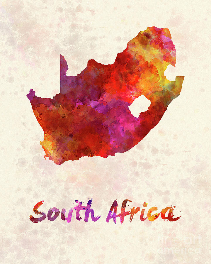 720x900 South Africa In Watercolor Painting By Pablo Romero