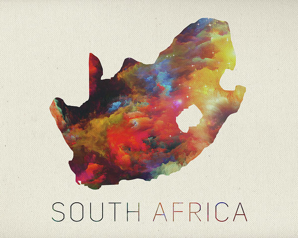 600x480 South Africa Watercolor Map Poster By Design Turnpike