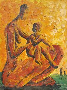 223x300 Vintage African American Black Chicago Artist Mid Century Modern