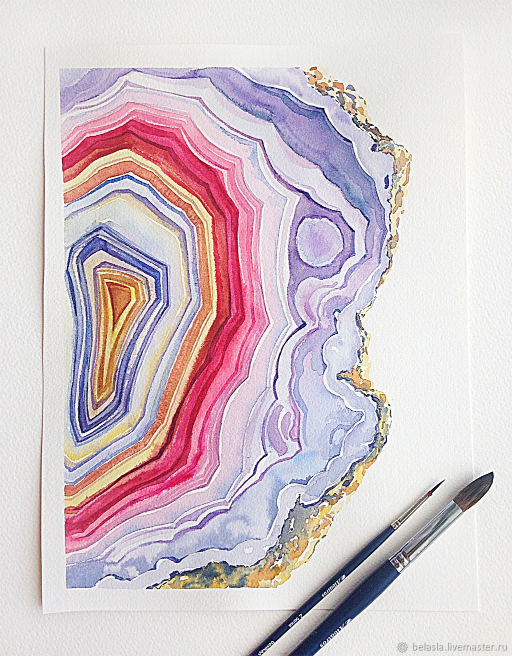 Agate Watercolor