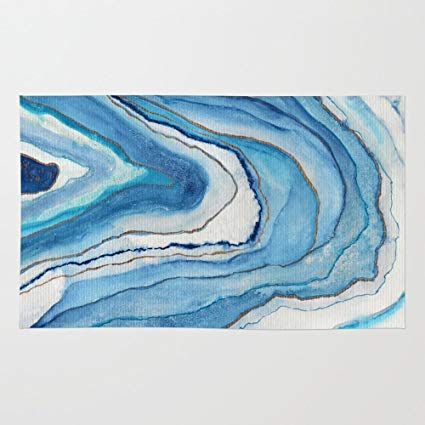 425x425 Society6 Agate Inspired Watercolor Abstract 02 Rug 4