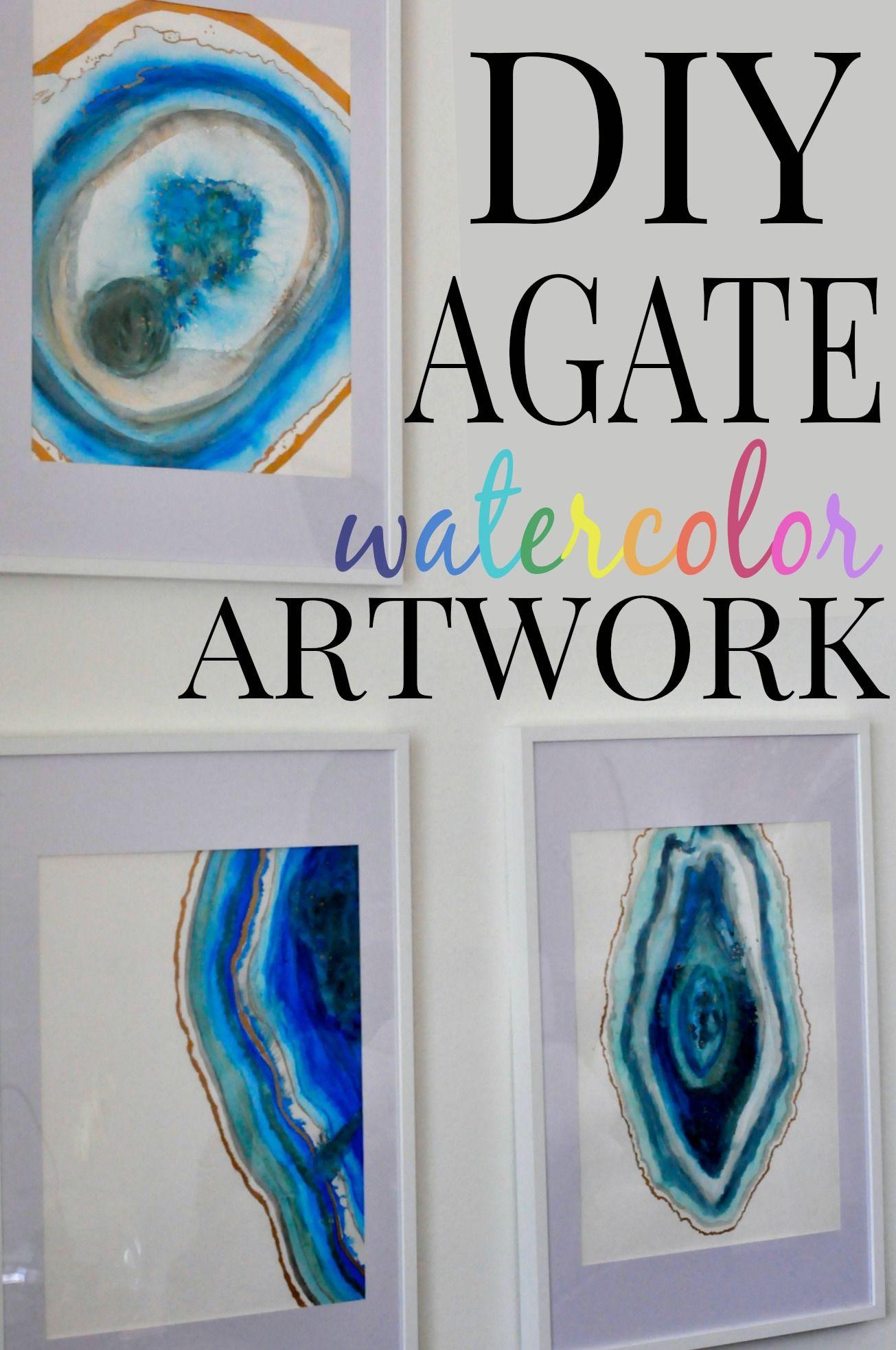 1305x1966 Diy Agate Watercolor Artwork Watercolor Artwork