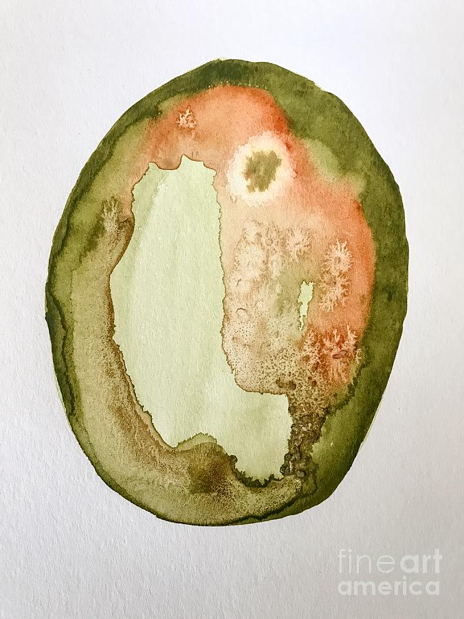 675x900 Forest Agate Watercolor Painting By Sadie Fienberg
