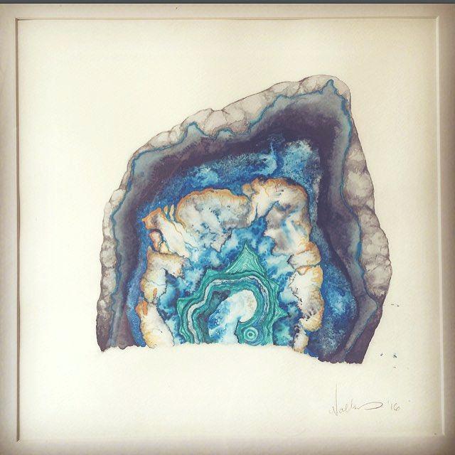 640x640 Agate Painting Like This Item Watercolor Nicolegeorge