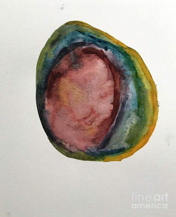 728x900 Rainbow Agate Watercolor Painting By Sadie Fienberg