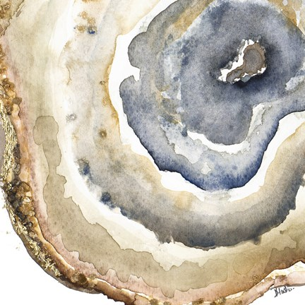 432x432 Up Close Agate Watercolor I Fine Art Print By Patricia Pinto