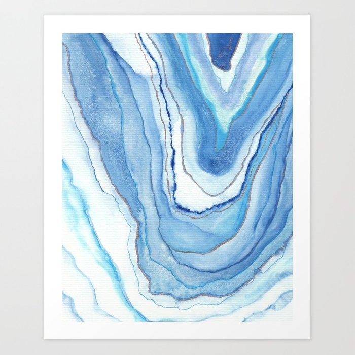 700x700 Agate Watercolor 12 Art Print By Vivigonzalezart Society6