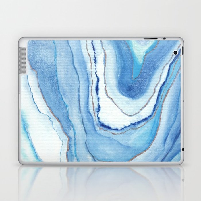 700x700 Agate Watercolor 12 Laptop Amp Ipad Skin By Vivigonzalezart Society6
