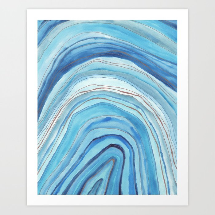 700x700 Agate Watercolor 13 Art Print By Vivigonzalezart Society6