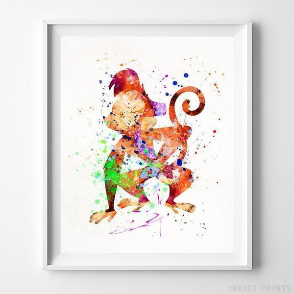 600x600 Aladdin And Jasmine, Aladdin Print Artwork Print Inkist Prints