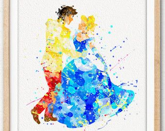 340x270 Disney Aladdin Watercolor Art Poster Print