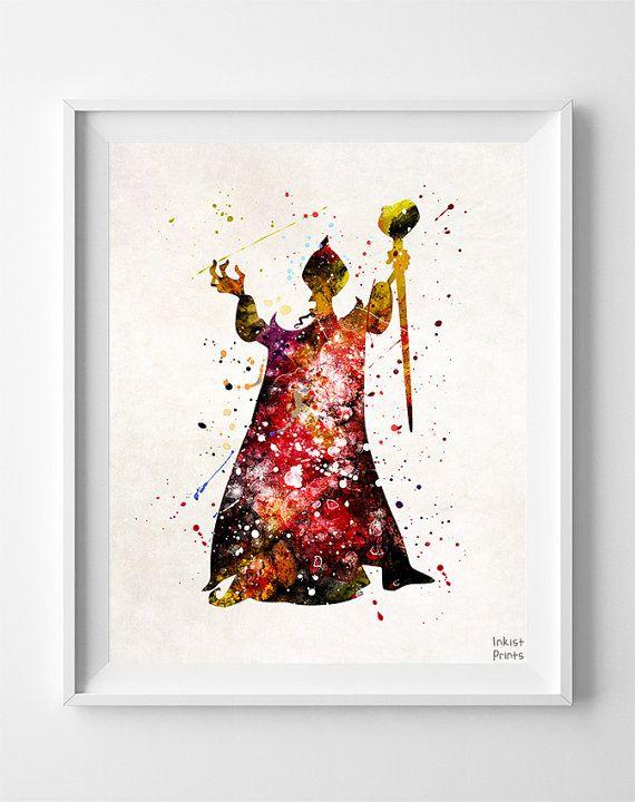 570x720 Jafar Print, Aladdin Print, Jafar Art, Aladdin Art, Aladdin