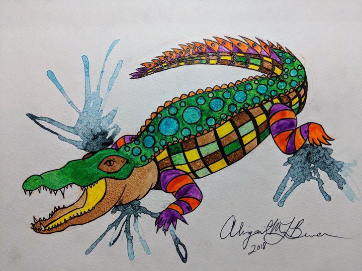 720x540 Crocodile Watercolor