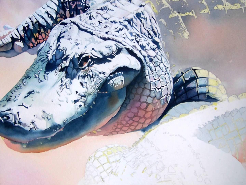 1440x1080 Watercolor Alligators