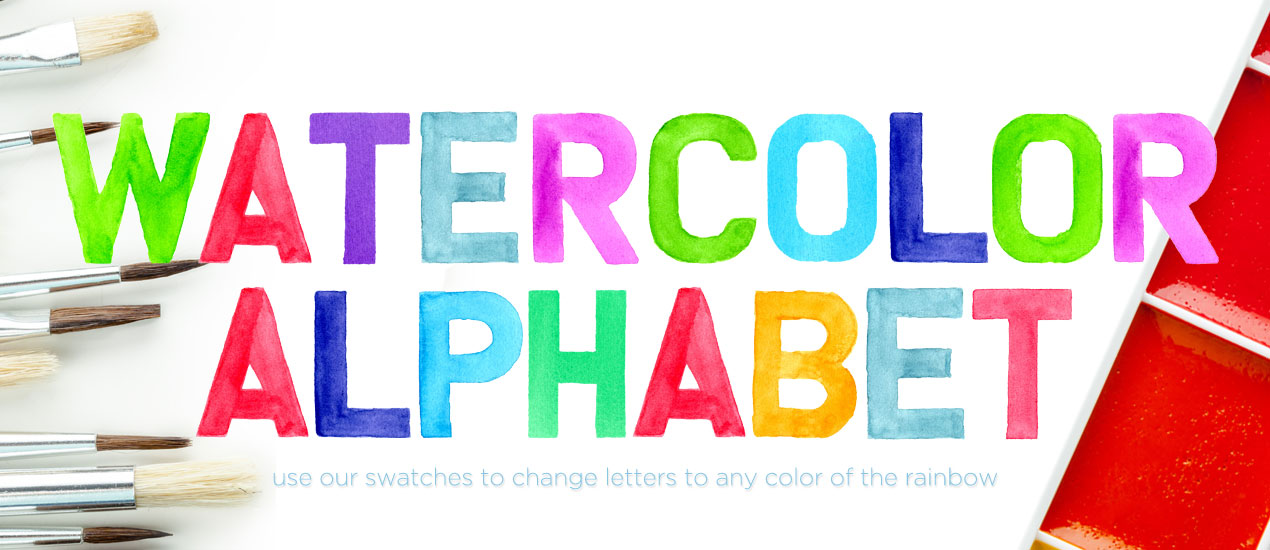 1270x550 Introducing Our Watercolor Alphabet Font