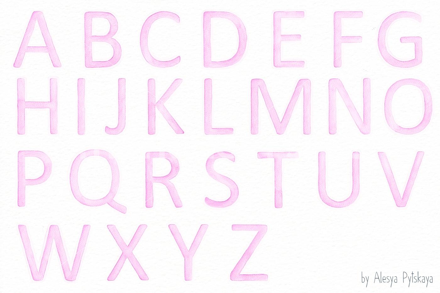 1400x933 Pink Alphabet
