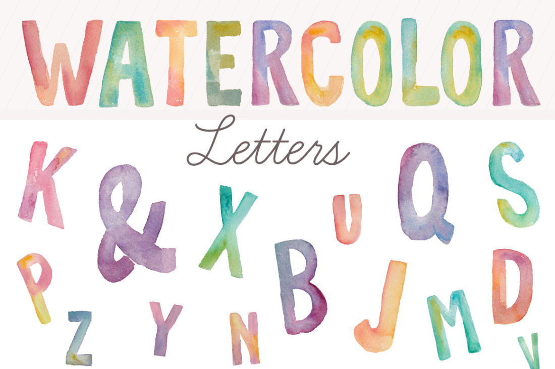 1100x732 Watercolor Alphabet Letters Clip Art Spell Anything In Style!