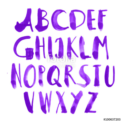 500x500 Watercolor Alphabet Letters. Hand Painted Alphabet. Watercolor