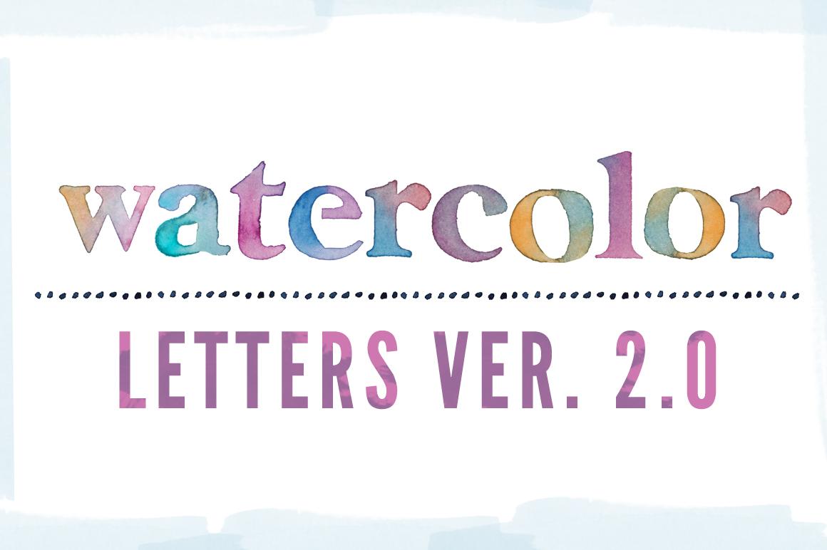 1160x772 Watercolor Letters Clip Art