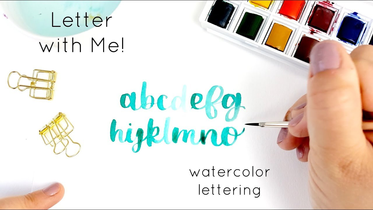 1280x720 Watercolor Painting Abcs Handlettering The Alphabet With Winsor