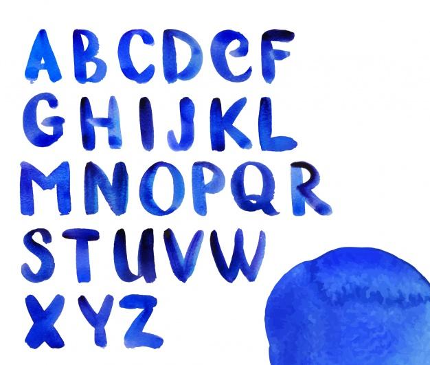 626x531 Watercolor Alphabet Design Vector Free Download