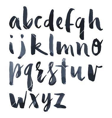380x400 Watercolor Alphabet Vector Letters