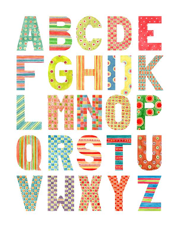 600x766 Alphabet
