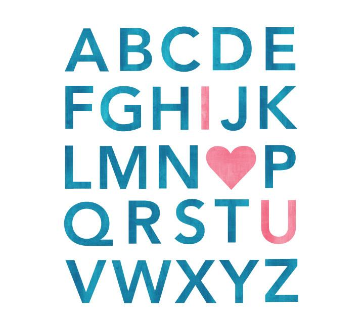 720x648 Alphabet Watercolor Wall Decals Eco Wall Decals