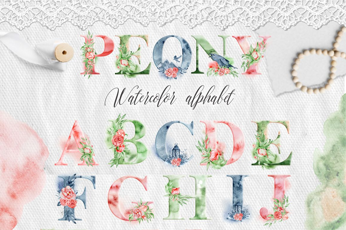 1158x772 Alphabet Clipart Watercolor Alphabet Digital Alphabet Letters