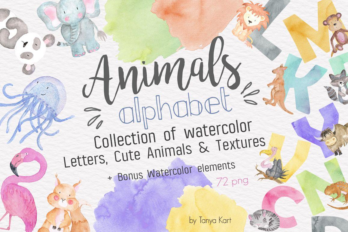 1158x772 Animals Alphabet Watercolor Kit