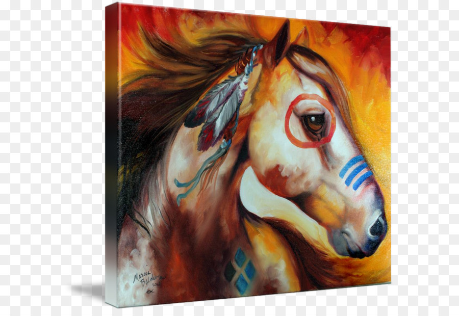 900x620 Watercolor Painting American Indian Wars American Indian Horse