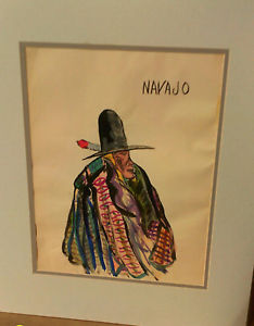 234x300 3 Watercolor Painting Native American Indian Navajo Tribe Ebay