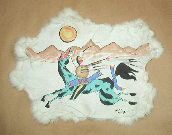 600x471 Lakota Ledger Art Native American Indian Painting