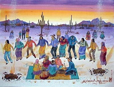400x306 Michael Chiago Round Dance Kp Modern Indian Art
