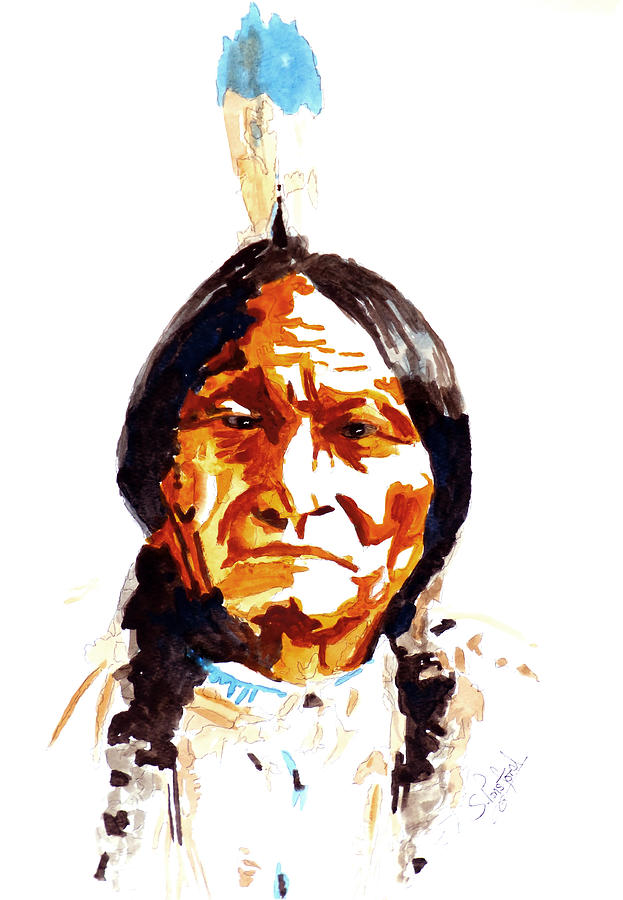 623x900 Native American Indian Painting By Steven Ponsford