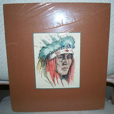 400x399 Original Watercolor Painting Of A Native American Indian Chief