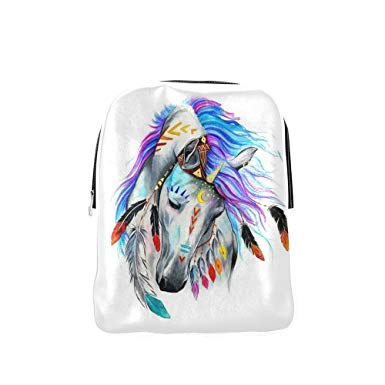 385x385 Horse American Indian Watercolor Painting Style Pu