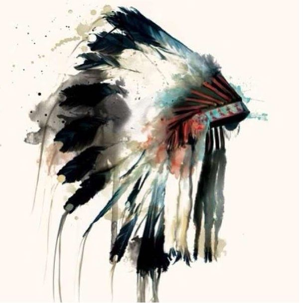 608x608 Indian Headdress Art