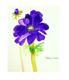 Anemone Watercolor
