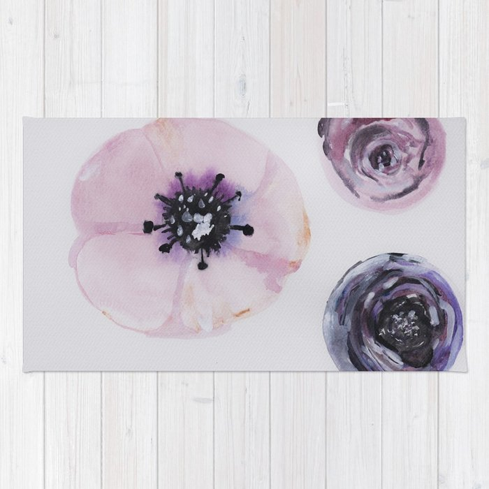 700x700 Soft Pink, Abstract Anemone, Watercolor, Nature, Plant, Pink