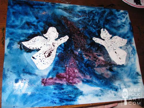 500x375 Rejoicing Angels Watercolor Painting Project