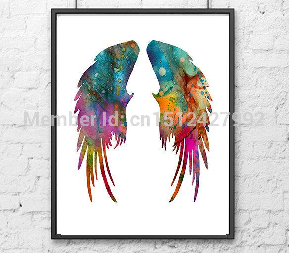 Angel Wings Watercolor