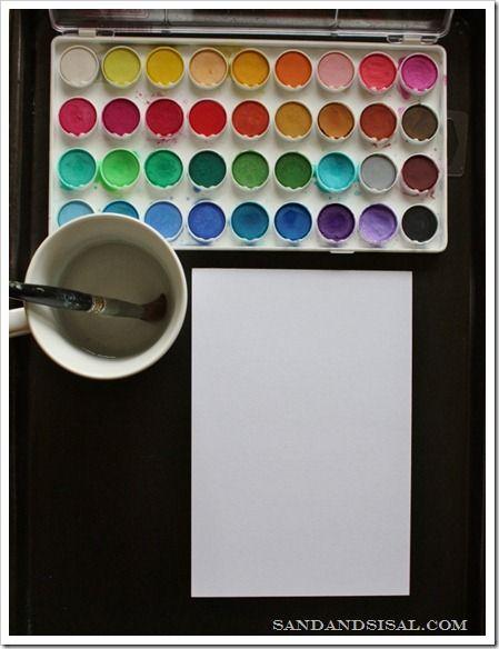 449x584 Easy Watercolor Resist Art Watercolor, Watercolor Art And Easy